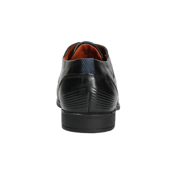 Kožené pánské polobotky se strukturou bugatti, černá, 824-6009 - 16