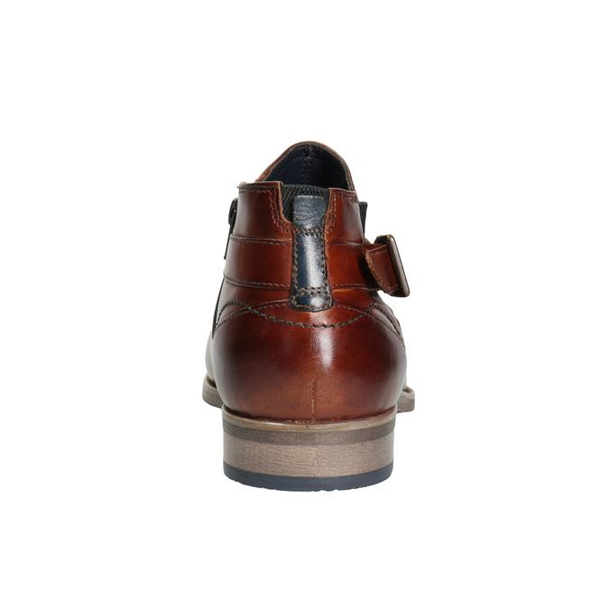 Kožená kotníčková obuv s přezkou bugatti, hnědá, 816-3043 - 16