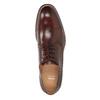 Hnědé kožené polobotky pánské bata, hnědá, 826-4681 - 17