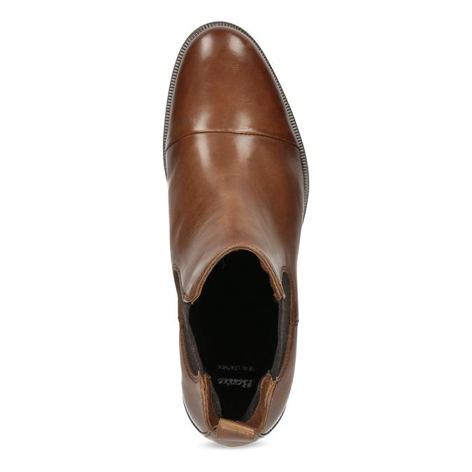 Kožená hnědá dámská Chelsea obuv bata, hnědá, 594-4636 - 17