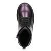 Metalická dětská obuv mini-b, fialová, 321-9612 - 19