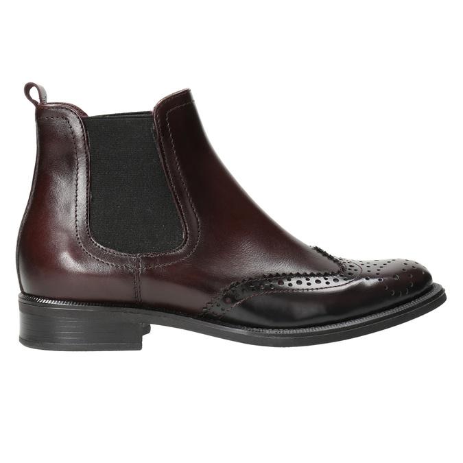 Kožená obuv ve stylu Chelsea bata, červená, 594-5638 - 15