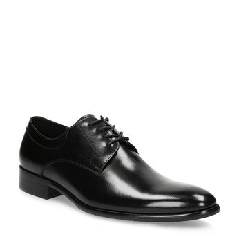 Pánské kožené Derby polobotky bata, černá, 824-6233 - 13