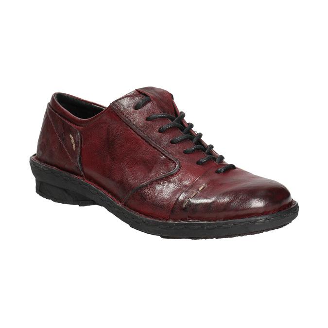 Dámské kožené polobotky bata, červená, 526-5640 - 13