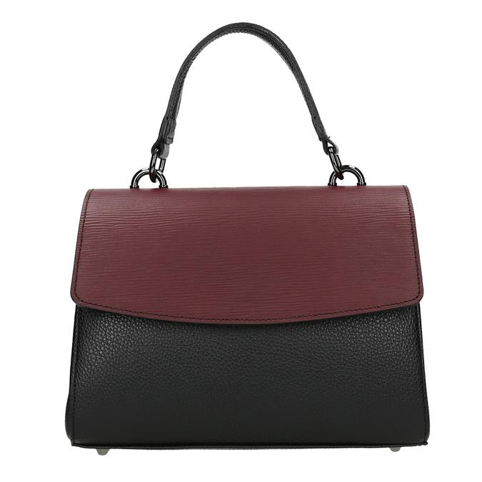 Dámská kožená kabelka s popruhem bata, černá, 964-6248 - 26