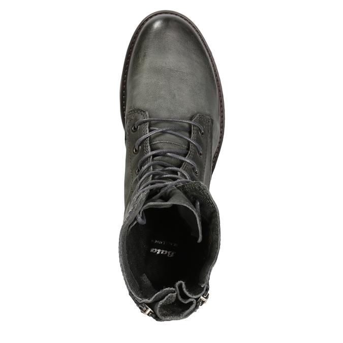 Kožená dámská obuv bata, šedá, 596-2616 - 15