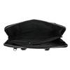 Kožená taška s odnímatelným popruhem bata, černá, 964-6223 - 15