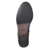 Kožená kotníčková obuv se zdobením clarks, černá, 614-6027 - 17