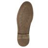 Hnědé kožené polobotky s prošitím bata, hnědá, 826-4915 - 19