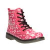 Dívčí šněrovací obuv s hvězdičkami mini-b, růžová, 291-5167 - 13