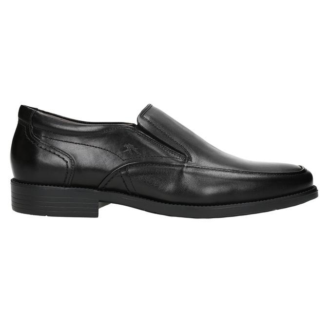 Kožené pánské Loafers fluchos, černá, 814-6443 - 26