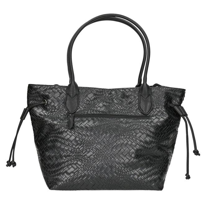 Dámská kabelka se strukturou gabor-bags, černá, 961-6053 - 16