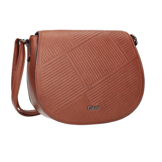 Dámská kabelka s prošitím gabor-bags, hnědá, 961-3055 - 13