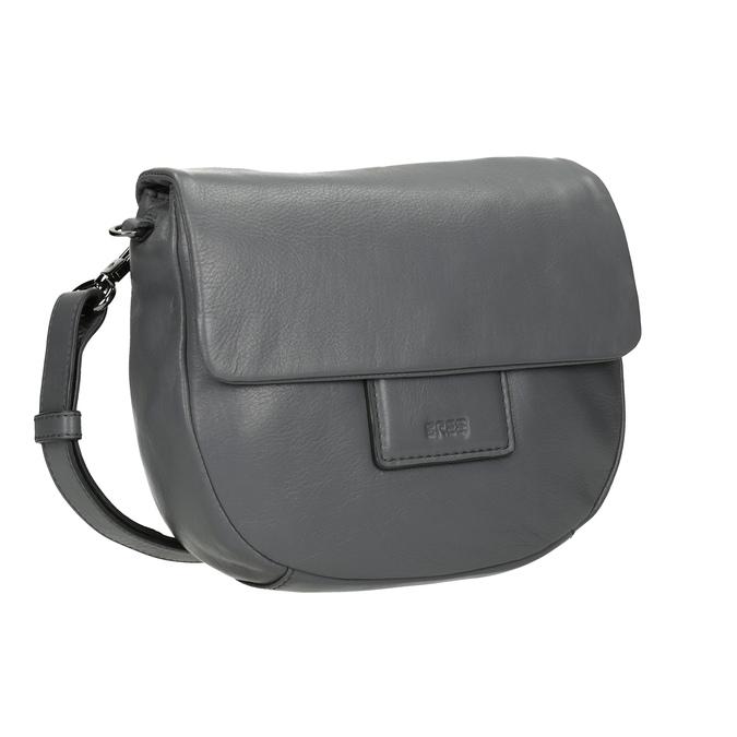 Šedá kožená kabelka se střapcem bree, šedá, 964-4040 - 13