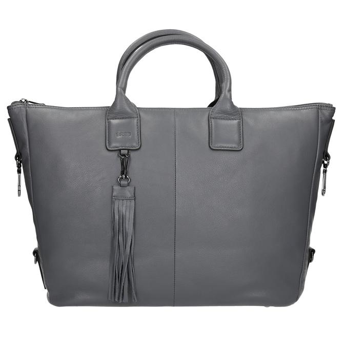 Kožená kabelka se střapcem bree, šedá, 964-2039 - 26