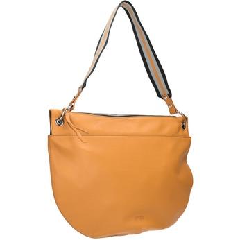 Kožená kabelka s prošitím bree, žlutá, 964-8029 - 13