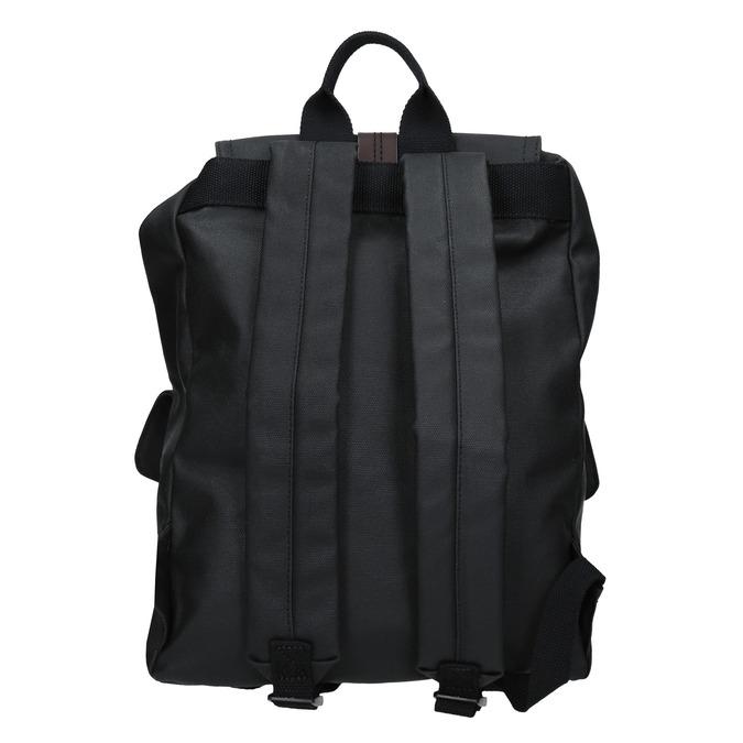 Batoh s prošívanými pásky bata, černá, 969-6154 - 16