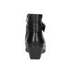 Kožená kotníčková obuv s přezkou comfit, černá, 696-4622 - 17