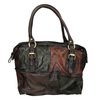 Kožená kabelka ve stylu Patchwork a-s-98, vícebarevné, 966-0062 - 26
