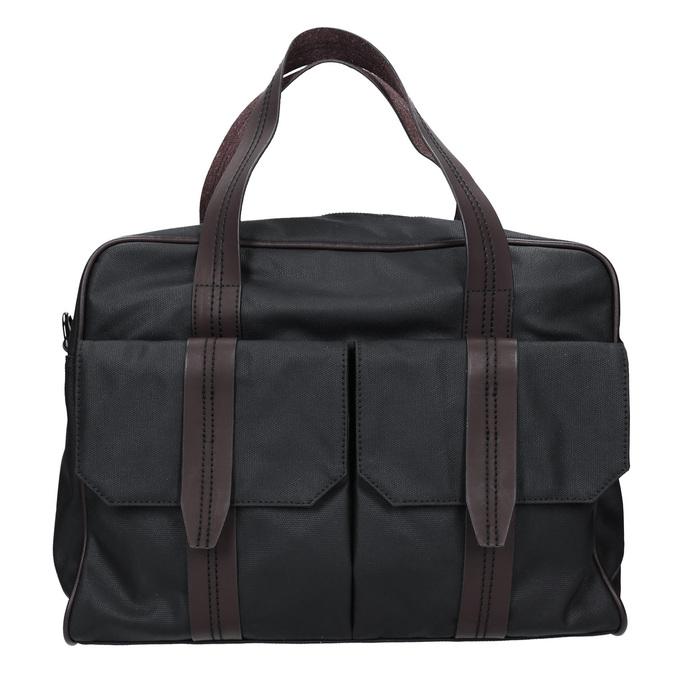 Pánská textilní taška bata, černá, 969-6131 - 26