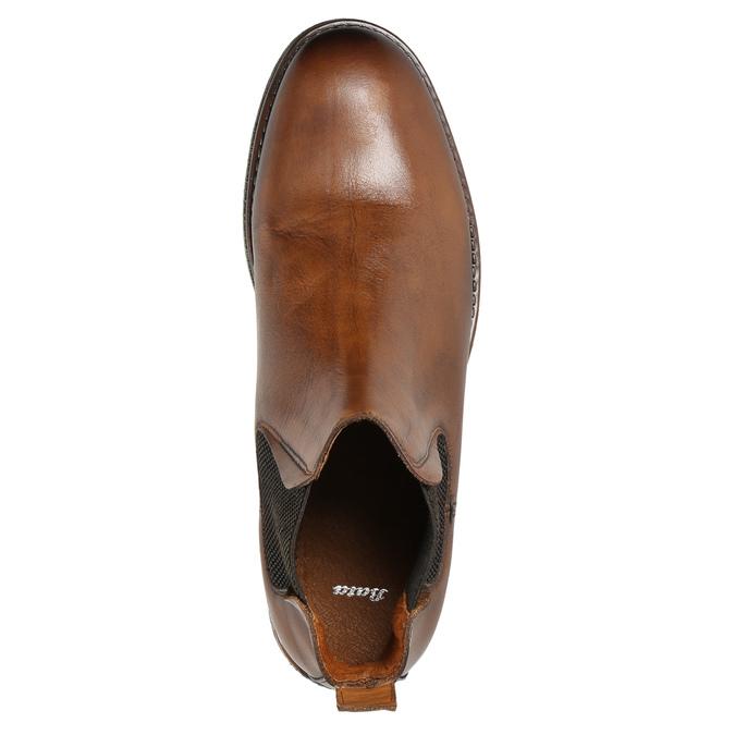 Hnědé kožené Chelsea Boots bata, hnědá, 896-3673 - 26