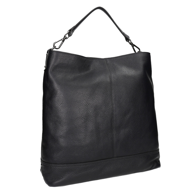 Kožená černá Hobo kabelka bata, černá, 964-6261 - 13