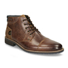 Pánská kožená kotníková obuv bata, hnědá, 826-3611 - 13