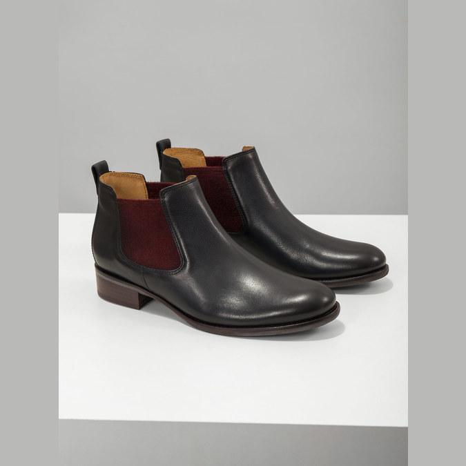 Kožené kotníčkové Chelsea Boots gabor, modrá, 516-4036 - 19
