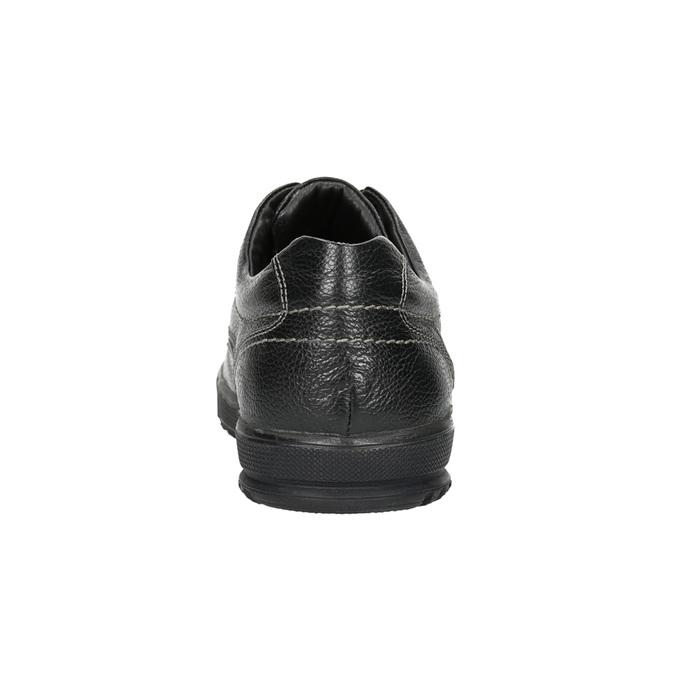 Kožené polobotky s ležérní podešví bata, černá, 824-6925 - 17