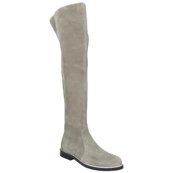 Kožené kozačky nad kolena šedé bata, šedá, 593-2605 - 13