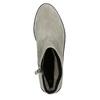 Kotníčková obuv z broušené kůže bata, šedá, 593-2603 - 26