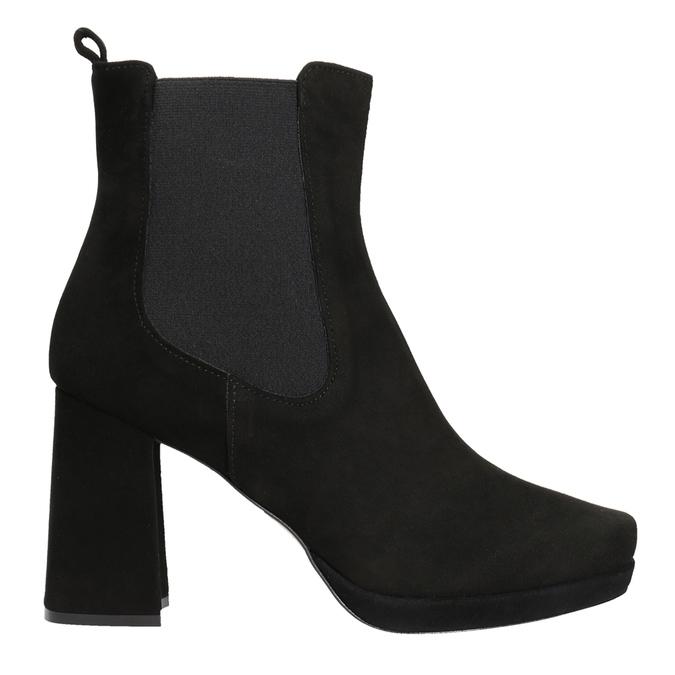 Kotníčkové kozačky na podpatku bata, černá, 793-6704 - 26