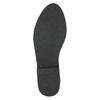 Kožená kotníčková obuv se stříbrným lemem bata, černá, 593-6603 - 19