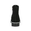 Kožená kotníčková obuv se stříbrným lemem bata, černá, 593-6603 - 17