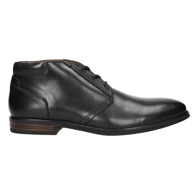 Kožená pánská kotníčková obuv bata, černá, 824-6913 - 15