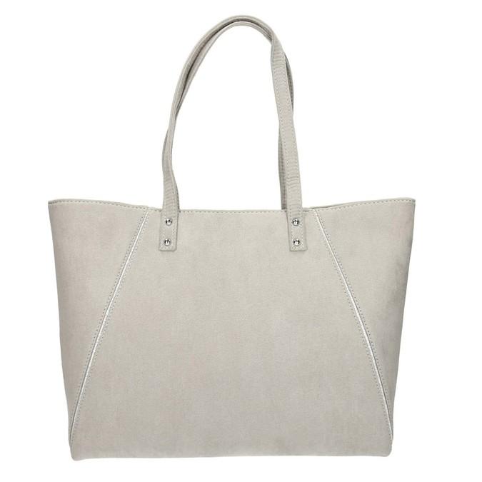 Béžová kabelka se stříbrnými detaily bata, šedá, 969-2669 - 19