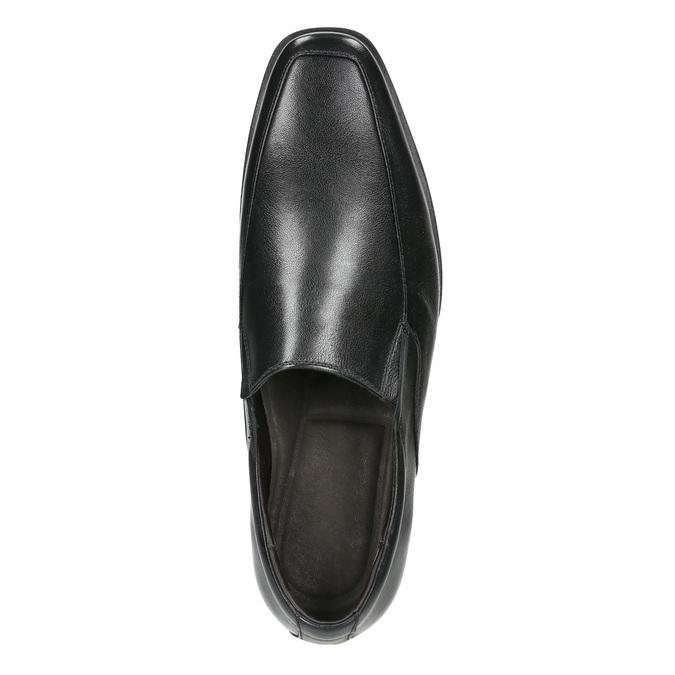 Kožené pánské Loafers bata, černá, 814-6623 - 26