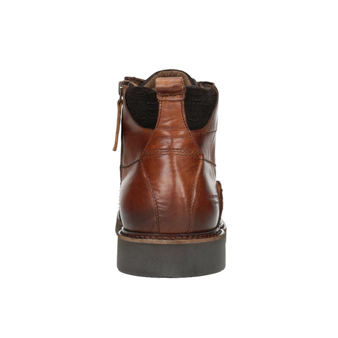 Kožená kotníčková obuv bata, hnědá, 896-3675 - 16