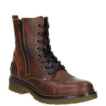 Dámská kotníčková obuv se zipem bata, hnědá, 596-3681 - 13