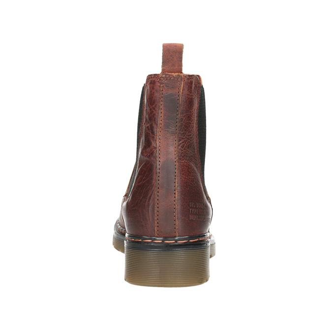 Kožená dámská Chelsea obuv bata, hnědá, 596-3680 - 16