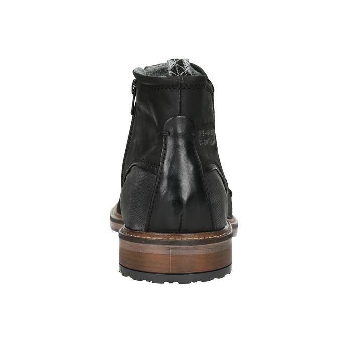 Kožená kotníčková obuv pánská bugatti, černá, 816-6044 - 16