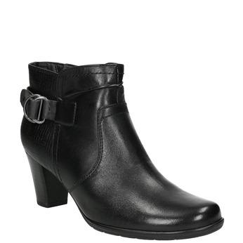 Kotníčková obuv šíře H bata, černá, 696-6625 - 13
