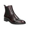 Kožená dámská Chelsea obuv bata, červená, 596-5679 - 13