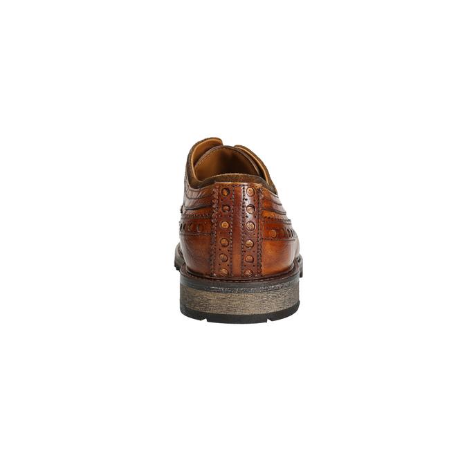 Pánské kožené polobotky bata, hnědá, 826-3916 - 17