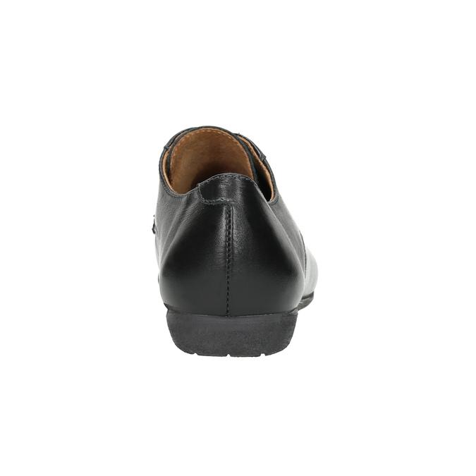 Dámské kožené polobotky bata, černá, 526-6635 - 16