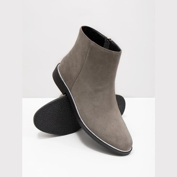 Kotníčková obuv z broušené kůže bata, šedá, 593-2603 - 18