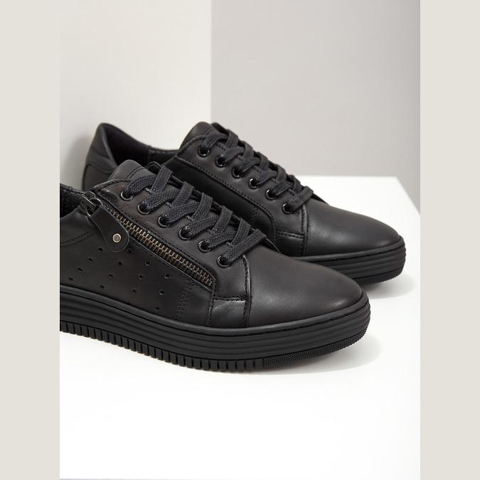 Dámské kožené tenisky bata, černá, 526-6630 - 14