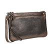 Dámské kožené metalické psaníčko bata, hnědá, 964-4141 - 13