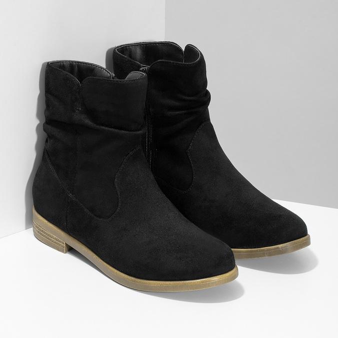 Dámské kotníčkové kozačky bata, černá, 599-6614 - 26
