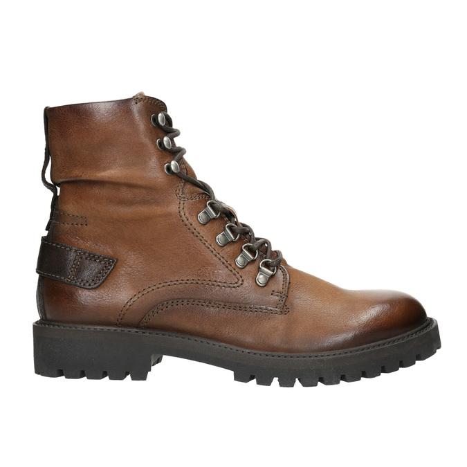 Kožená kotníčková obuv bata, hnědá, 896-3663 - 15